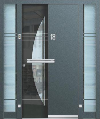 Hliníkové vchodové dveře řady AA typ 232