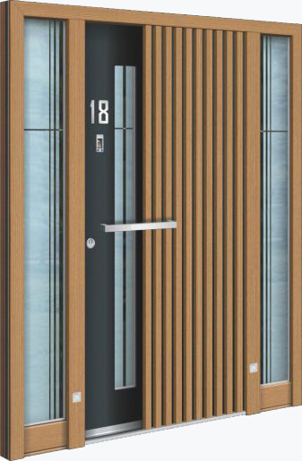 Hliníkové vchodové dveře řady AA typ 245
