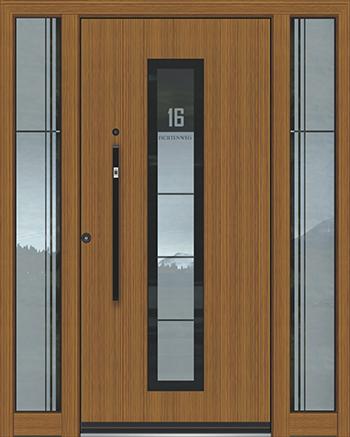 Hliníkové vchodové dveře řady AAE typ 1072