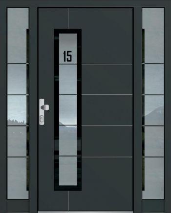 Hliníkové vchodové dveře řady AAE typ 1073