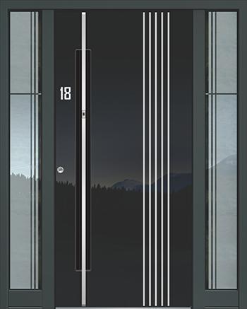 Hliníkové vchodové dveře řady AAE typ 1181