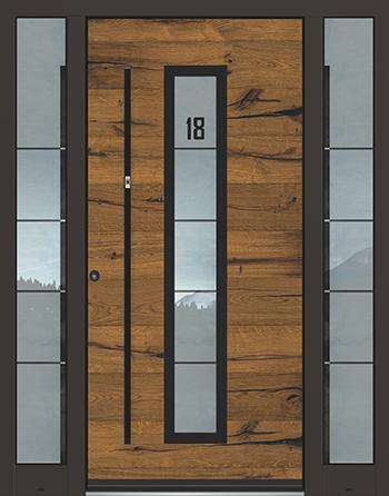 Hliníkové vchodové dveře řady AEE typ 1158
