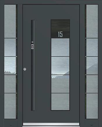 Hliníkové vchodové dveře řady AGE typ 1097