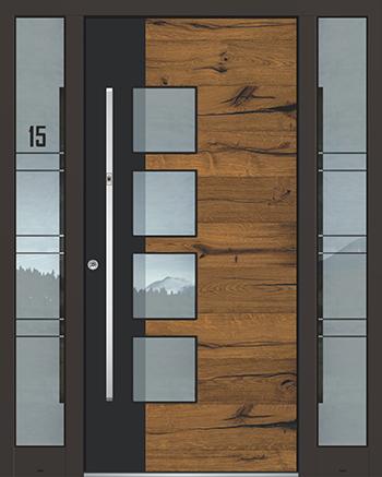 Hliníkové vchodové dveře řady AGE typ 1219