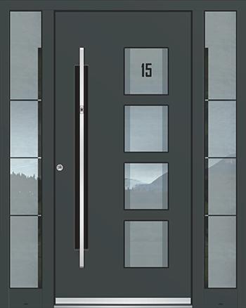 Hliníkové vchodové dveře řady AGE typ 1232