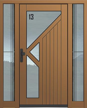 Hliníkové vchodové dveře řady AGE typ 1821