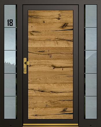 Hliníkové vchodové dveře řady AGS typ 1020