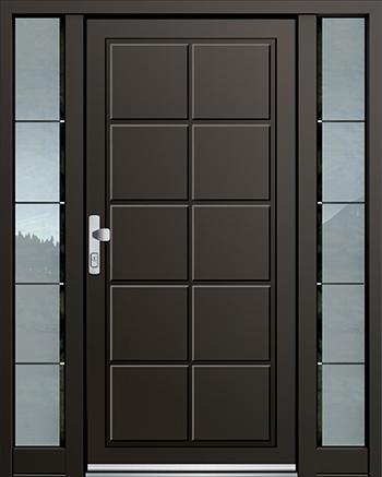 Hliníkové vchodové dveře řady AGS typ 1055