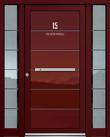 Hliníkové vchodové dveře řady AGS typ 1804