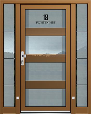 Hliníkové vchodové dveře řady ASS typ 1805