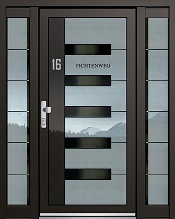 Hliníkové vchodové dveře řady ASS typ 1839