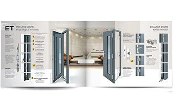 katalog hliníkových vstupních dveří